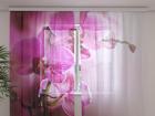 Sifonki-kuvaverho PURPLE ORCHIDS 240x220 cm ED-100003