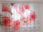 Sifonki-kuvaverhoMUSIC OF ROSES 240x220 cm ED-100020