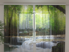 Sifonki-kuvaverho WATERFALL IN SPRING FOREST 240x220 cm ED-100041