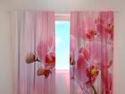 Läbipaistev kardin Pink orchid 240x220 cm ED-100456