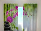 Läbipaistev kardin Crimson orchids 1, 240x220 cm ED-100498