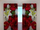 Läbipaistev kardin Roses and lilies 240x220 cm ED-100508