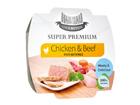 HAU-HAU SUPER PREMIUM täysravinto kanaa ja naudanlihaa riisillä 3x100g MC-100614