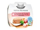 HAU-HAU SUPER PREMIUM täysravinto kanaa ja tonnikalaa riisillä 3x100g MC-100624