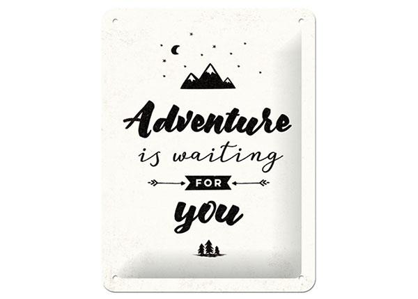 Металлический постер в ретро-стиле Adventure is waiting for you 15x20 см
