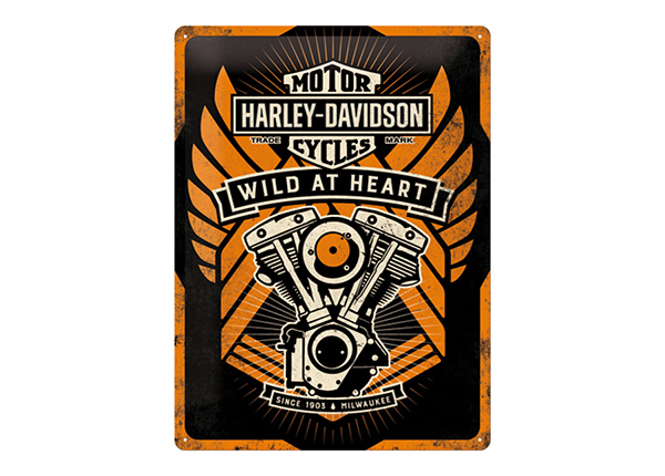 Retro metallposter Harley-Davidson Wild at Heart 30x40 cm SG-103138