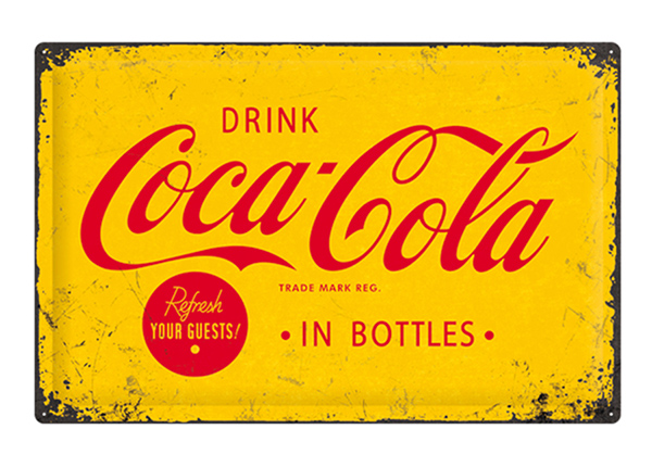 Retro metallposter Coca-Cola in bottles 40x60 cm SG-103144