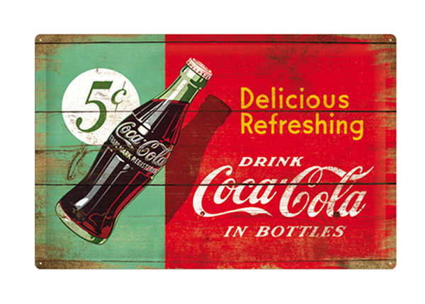 Retro metallposter Coca-Cola Delicious Refreshing 40x60 cm SG-103150