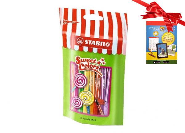 Vildikad Lollipop Stabilo Pen 68, 15 värvi