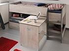 Кровать-чердак Fabric 90x200 cm MA-104903