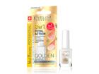 8in1 küünehoolduslakk kuldse läikega Nail Therapy Eveline Cosmetics 12ml