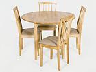 Klaffipöytä MONACO+4 tuolia MILANO, vaalea tammi