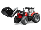 MASSEY FERGUSON traktori+kauha 1:16 BRUDER KL-106981