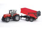 Massey Ferguson 7480 traktor järelhaagisega 1:16 Bruder KL-106983