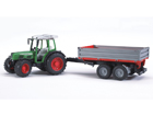 FENDT 209S traktori+peräkärry 1:16 BRUDER KL-106994