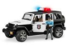 JEEP WRANGLES poliisiauto äänellä ja valolla 1:16 BRUDER KL-107095