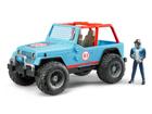 Võidusõidu Jeep figuuriga 1:16 Bruder KL-107106