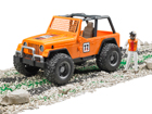 Võidusõidu Jeep figuuriga 1:16 Bruder KL-107108