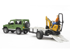 Land Rover haagisega+JCB ekskavaator 1:16 Bruder KL-107112
