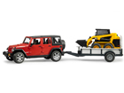Jeep Wrangler haagise ja minilaaduriga 1:16 Bruder KL-107133