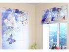 Poolläbipaistev roomakardin Blue Irises 60x60 cm