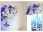 Pimendav roomakardin Blue Irises 100x120 cm