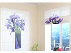 Poolläbipaistev roomakardin Bouquet of irises 60x60 cm