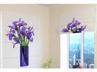 Pimendav roomakardin Bouquet of irises 60x60 cm