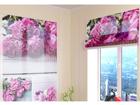Poolläbipaistev roomakardin Collage of peonies 60x60 cm