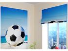 Pimendav roomakardin Football ball on the beach 120x140 cm