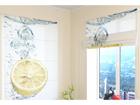 Poolläbipaistev roomakardin Fresh Lemon 60x60 cm