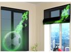 Poolläbipaistev roomakardin Green fire 120x140 cm
