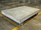 Ratastel diivanilaud Cement 130x90 cm AY-108959