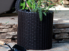 Цветочный горшок Keter Cylinder Planter Medium, anthracite Ø37 x h36 cm
