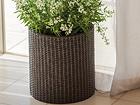 Цветочный горшок Keter Cylinder Planter Medium, коричневый Ø37 x h36 cm