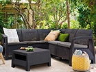 Комплект садовой мебели Keter Corfu Relax, graphite