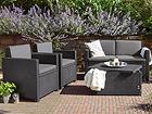 Комплект садовой мебели Keter рузоподъемность до 225 кг, максимум 2 взрослых и 1 ребенок