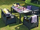 Комплект садовой мебели Keter Corfu Fiesta, graphite