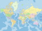 Fliis-fototapeet World map 360x270 cm ED-109412