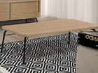 Sohvapöytä ASHBURN COFFEE TABLE OAK-BLACK 125x65 cm