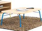 Diivanilaud Ashburn Coffee Table Oak-Blue 125x65 cm