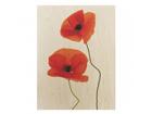 Seinapilt puidul Charming Poppies 75x120 cm