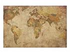 Seinätaulu puulevyllä WORLD MAP, 50x75 cm