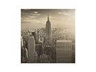 Seinapilt puidul Manhattan Skyline
