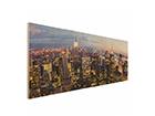 Seinapilt puidul New York Skyline