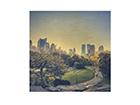 Seinapilt puidul Peaceful Central Park