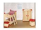 Мебель для кукольного домика - детская комната