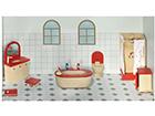 Мебель для кукольного домика - ванная комната