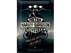 Retro metallposter Harley-Davidson Things are different on a Harley 20x30 cm SG-114851
