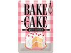 Retro metallposter Bake a cake 20x30 cm SG-114862